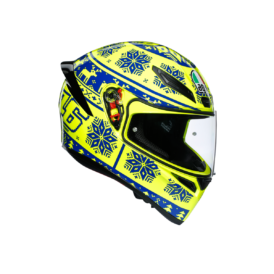 casque agv k1 rossi winter test 2015