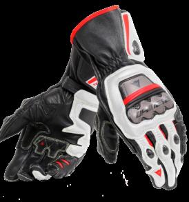 gants dainese full metal 6 blanc-rouge